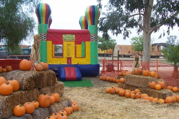 Ride On Train For Backyard :  Ride on the Pumpkin Train in Perris  Southern Californias Backyard