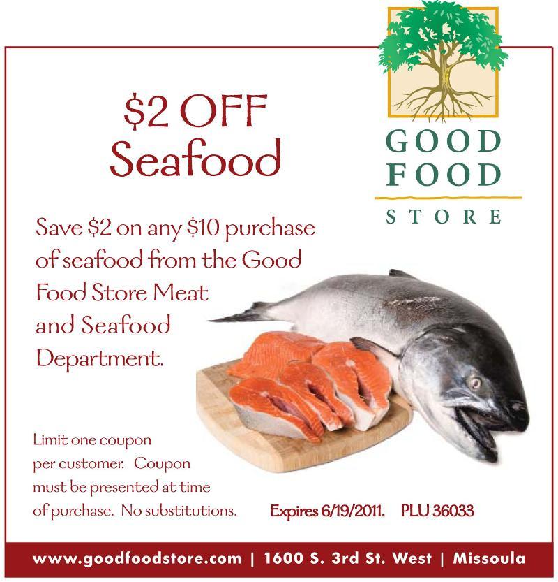 graphic regarding Gfs Coupons Printable named GFS Coupon: $2 OFF Seafood