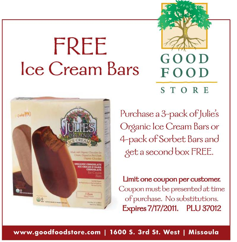 photo about Gfs Coupons Printable named GFS Coupon: Absolutely free Ice Product Bars