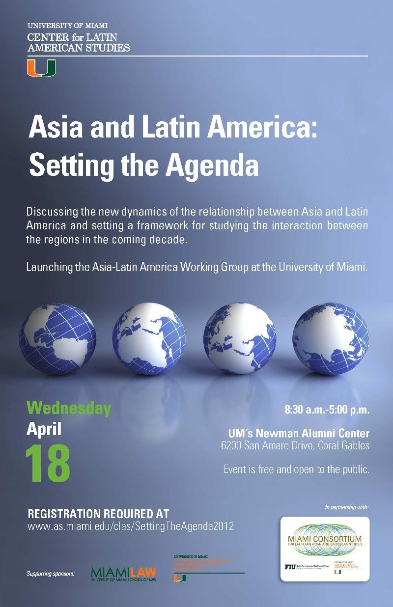 Asia and Latin America: Setting the Agenda flier