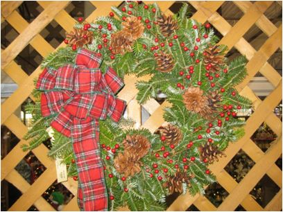 wreath decorating with bow making