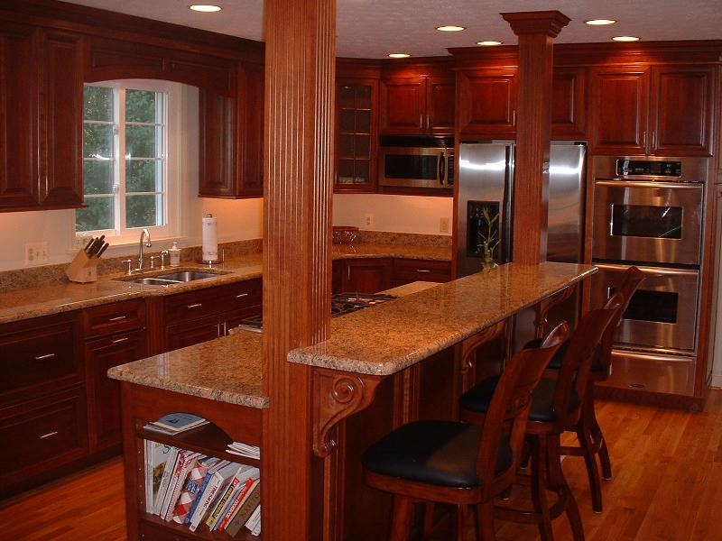 Structural beams in the kitchen...we made them into ...