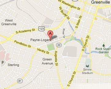 Map of Zen-Greenville location