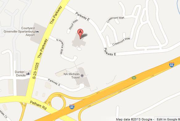 Map of Marriott Greenville