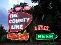 County Line Restaurant-Austin-Sign