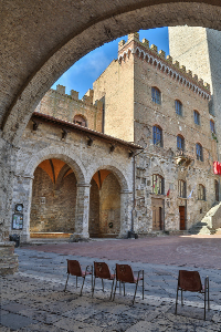 San Gimignano Square by Mary Louise Ravese