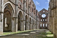 San Galgano Abbey by Mary Louise Ravese