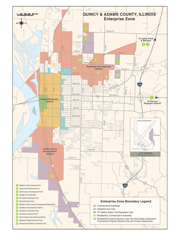 Quincy Adams County Enterprise Zone Map