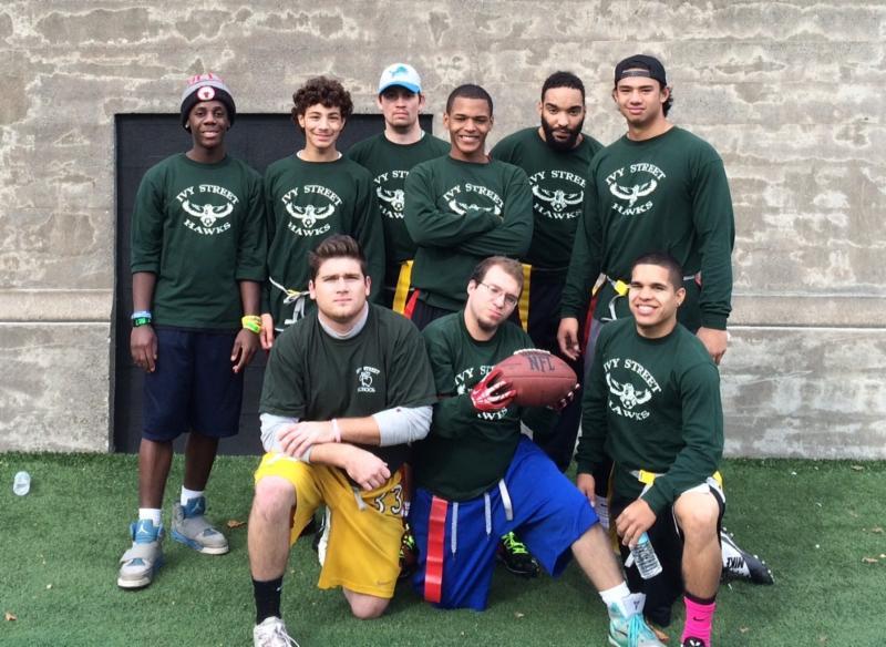 The Ivy Street Hawks Special Olympics flag football team