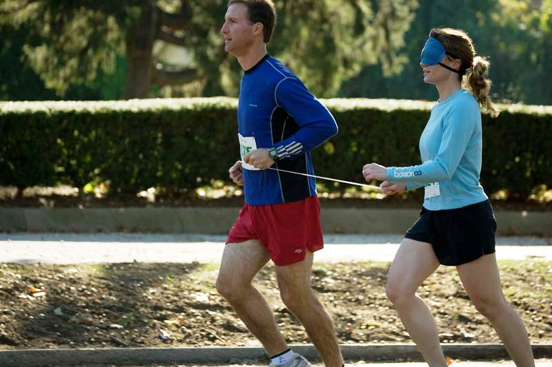 A Blindfold Challenge pair running