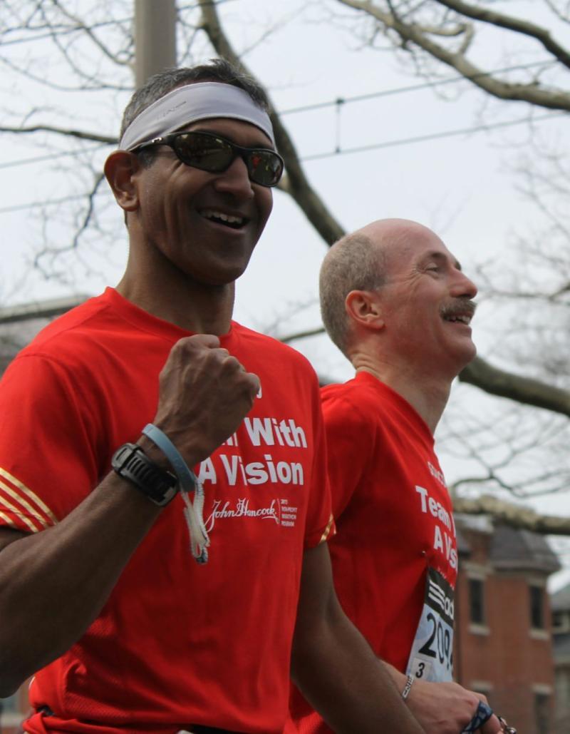 Team With a Vision members run the Boston Marathon