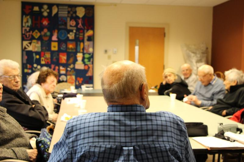 Support Group Members gather at the Brookline Senior Center