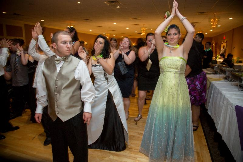 Students dance at Prom