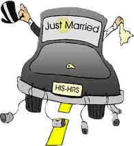 Dial M for Marriage - just married