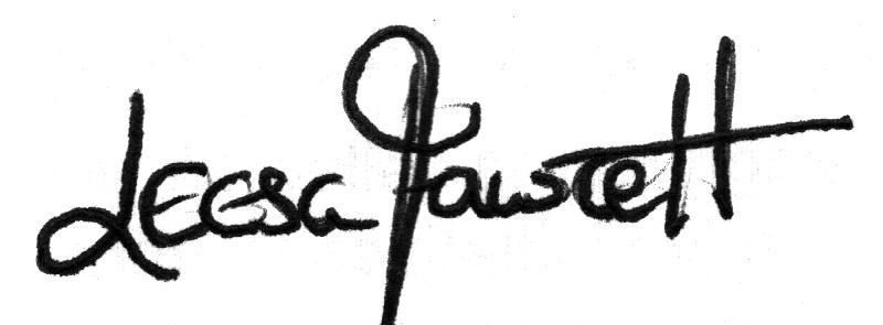 Leesa Fawcett Signature