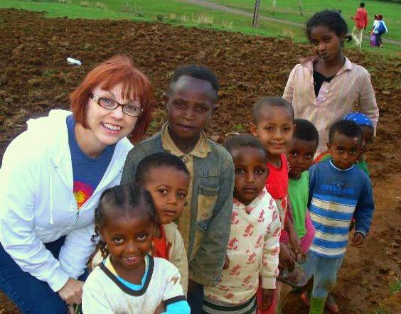 Brenda with kids