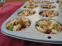Apple Cranberry Stuffing Muffins