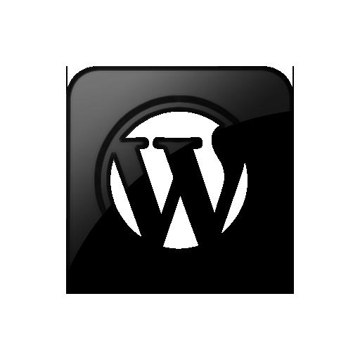 Wordpress black logo