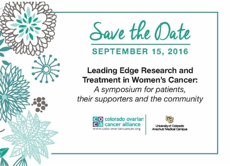 Save the Date Leading Edge Research and Treatment in Women's Cancer