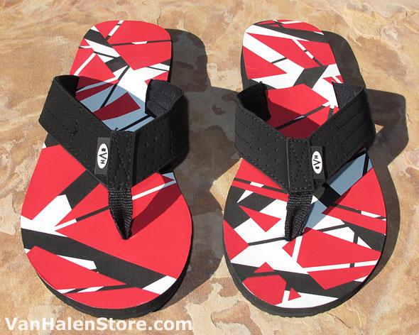 Red EVH Flip Flops