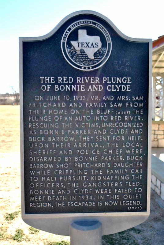 Red River Plunge historical marker