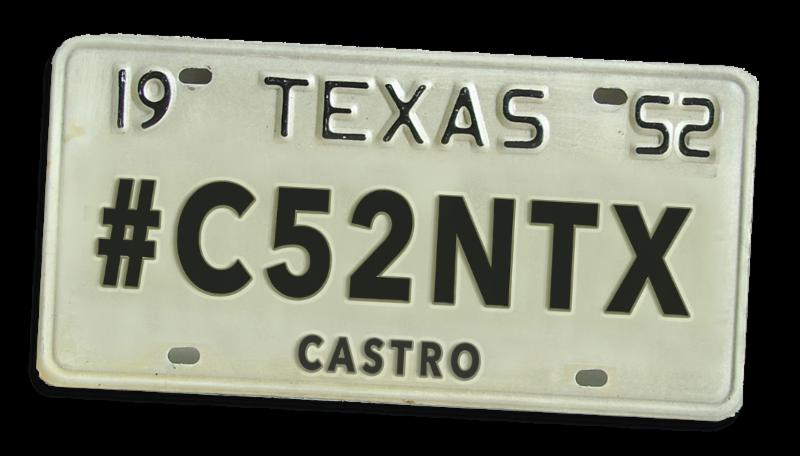 Castro County license tag