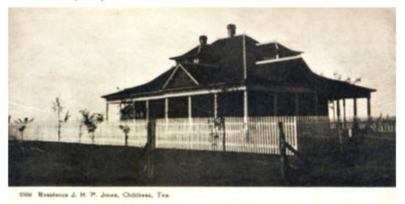 Old photo of the Jones homestead, childress