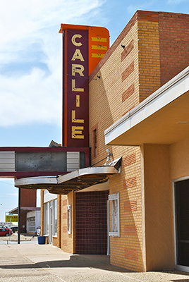 Carlile Theater building, downtown Dimmitt