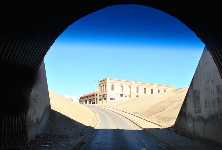 Tunnel under railroad, Childress