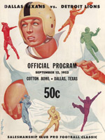 Dallas Texans program