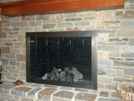 Angerstein's will come to a customer's home and measure for their fireplace  door and come out a second time to install it for $225.00 (New Castle  County). - Fireplace Doors: 20% Off All Of November Angerstein's Lighting