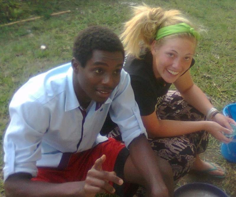 Megan with Joel Mulindabigwi at KSVS