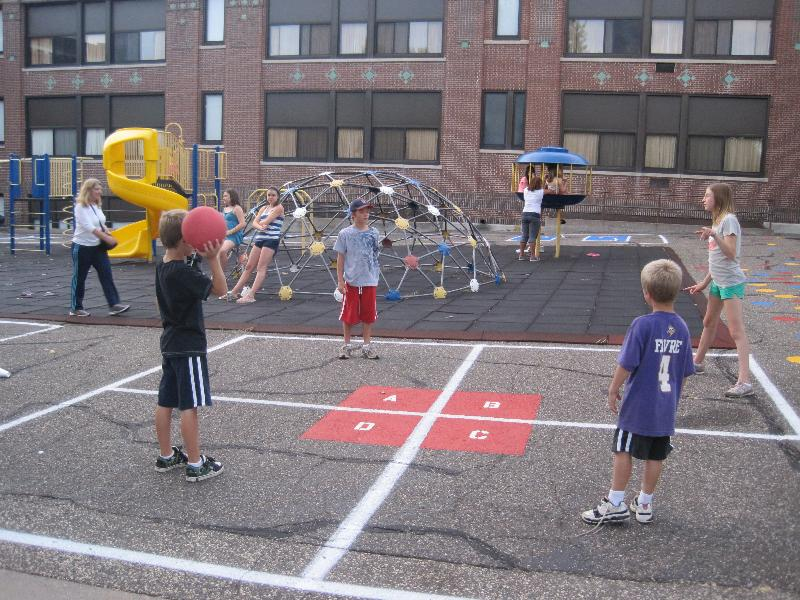 Playing 4 square