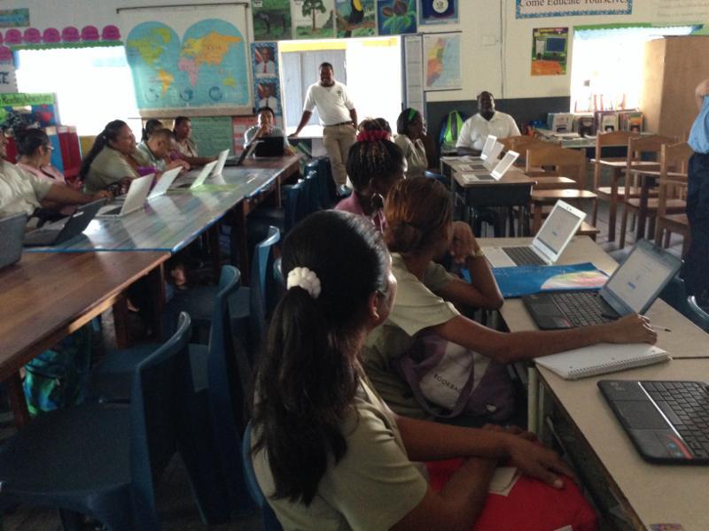 Teachers learn computing