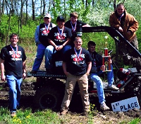 Teacher Brian Copes and award winning BUV team