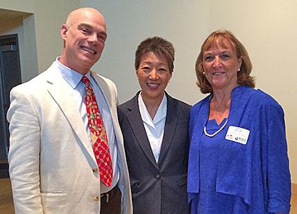 Peter Turner and Nancy McCauliffe welcome Jane Chu