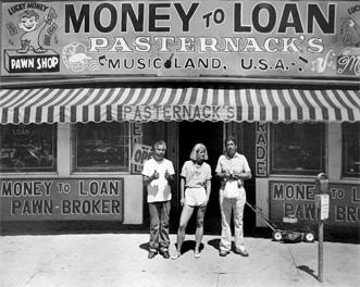 Money to Loan, Girl (2) Guys, Denver by Douglas Busch c 1986