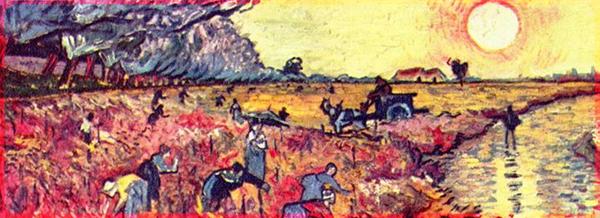 Detail of Van Gogh's Sunset