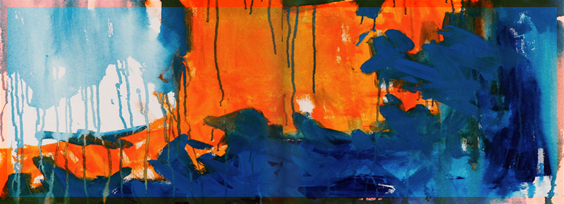 Orange and Blue Abstract