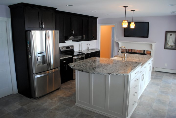 Kitchen Cabinets Java Color java cabinets floor color recommendations | bar cabinet