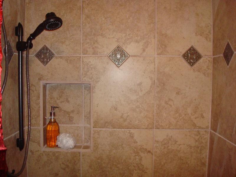 Metallic Shower Tile