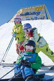 Ski school kids at Sun Valley