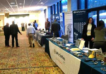 Exhibitors at VOS conference