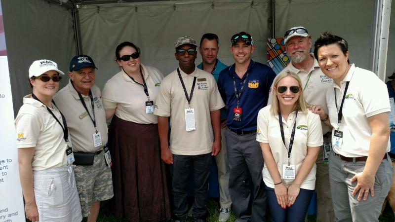 Buddy-to-Buddy Volunteers, M-SPAN and Buddy-to-Buddy staff, and MI Nat'l Guard Leaders ad the Volvik LPGA Tournament