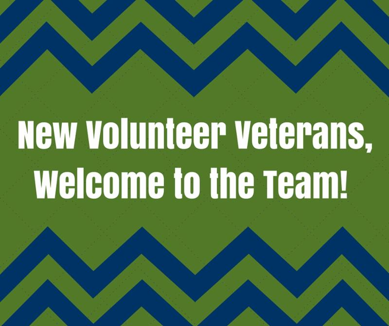 New Volunteer Veterans, Welcome to the Team!