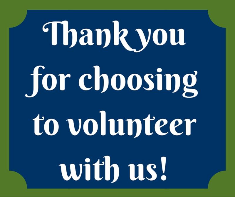 Thank you for choosing to volunteer with us!
