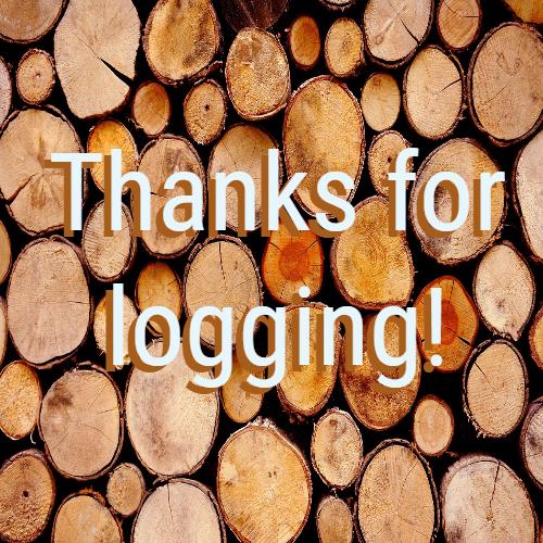 Thanks for logging!