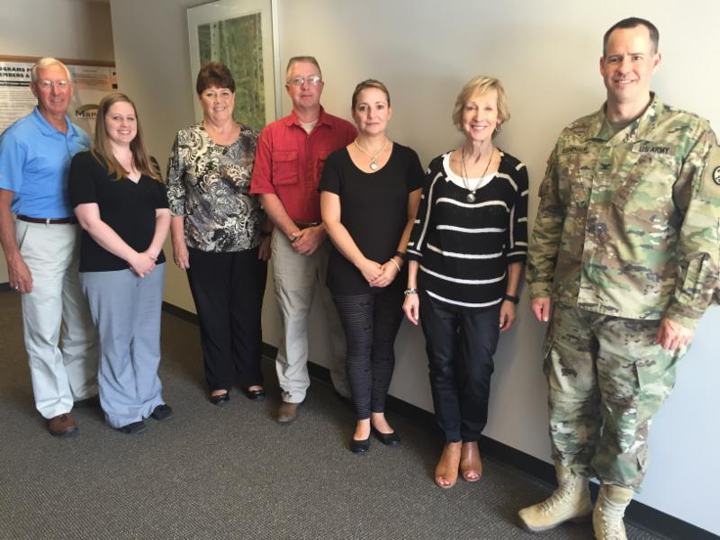 Buddy-to-Buddy staff with partners from the West Virginia National Guard
