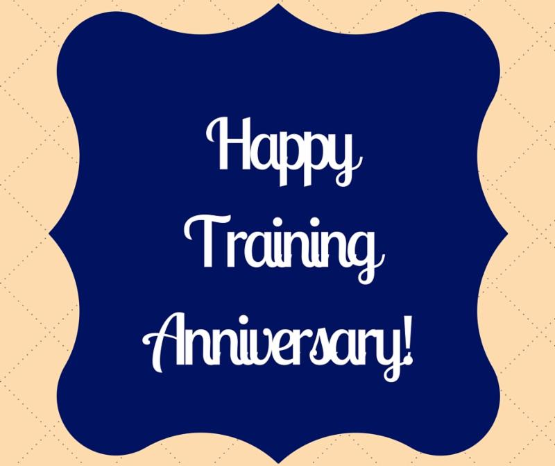 Happy Training Anniversary