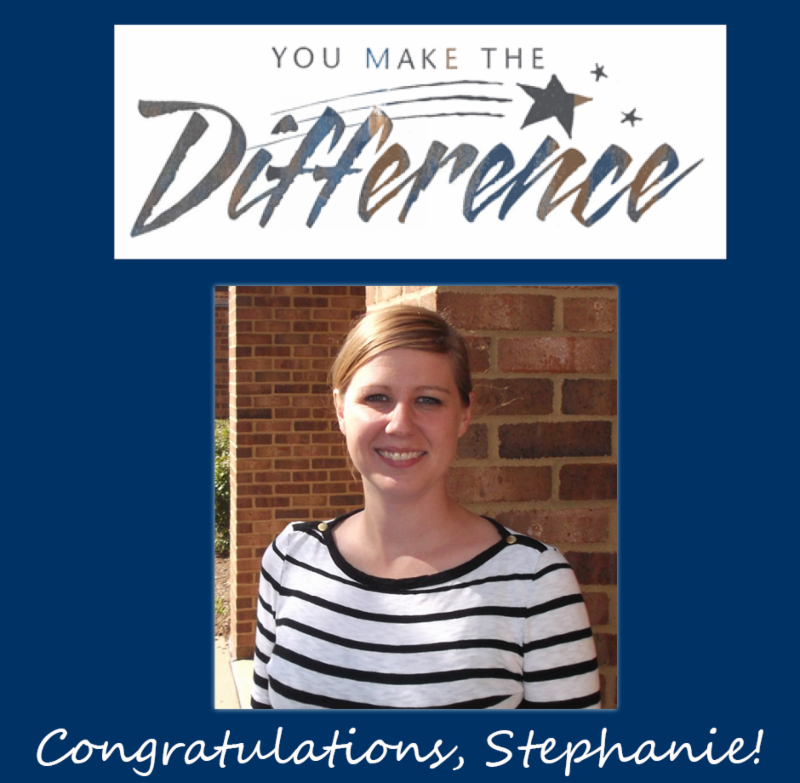 Congratulations, Stephanie!